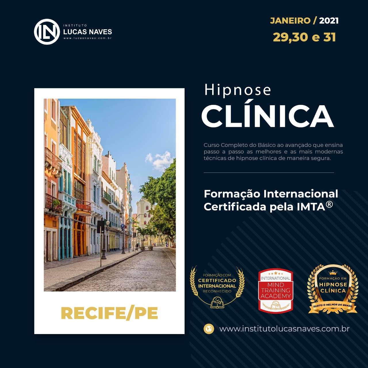 Formação Internacional em Hipnose Clínica / Recife