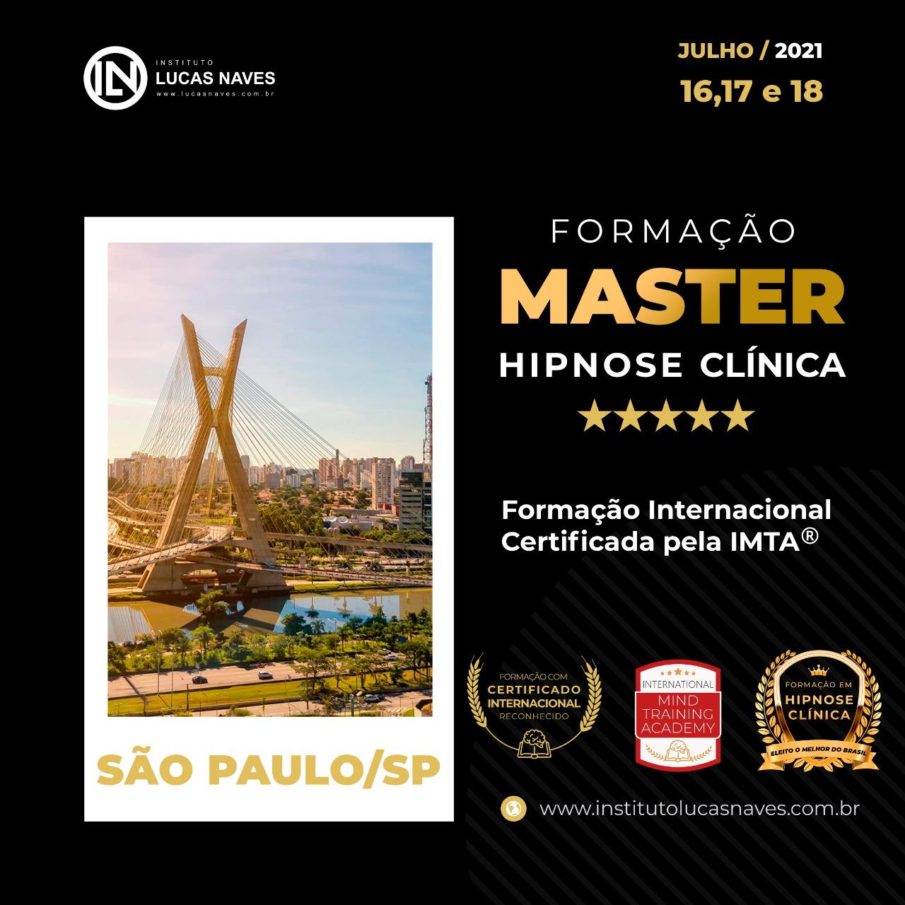 Formação Internacional Master em Hipnose Clínica / São Paulo